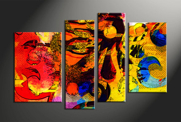 Home Wall Décor, 4 piece canvas art prints, abstract canvas print, abstract wall art, abstract multi panel canvas
