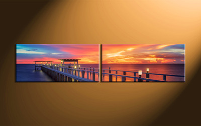 home decor, 2 piece canvas wall art, ocean wall art, scenery canvas art, large canvas , ocean wll decor