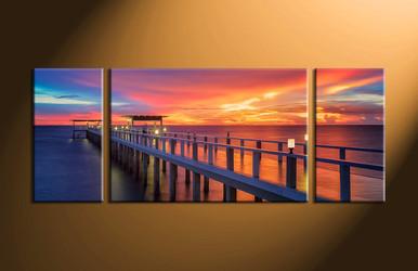 home decor, 3 piece canvas wall art, ocean wall art, scenery canvas art, ocean multi panel art, ocean wll decor pictures