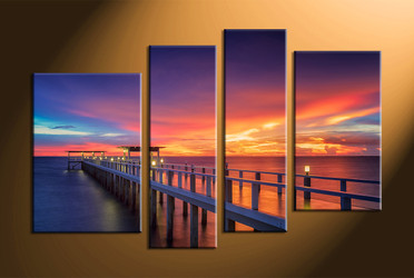 home decor, 4 piece canvas wall art, ocean wall art, scenery canvas art, ocean multi panel art, ocean canvas wall art