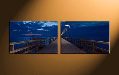 home decor,2 piece canvas wall art, ocean wall art, ocean large canvas, ocean wall art, ocean group canvas