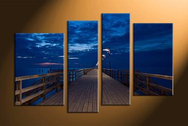 home decor,4 piece canvas wall art, ocean wall art, large canvas, huge canvas art, ocean huge pictures