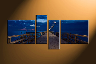 home decor,4 piece canvas wall art, ocean wall art, large canvas, ocean huge canvas art, ocean group canvas