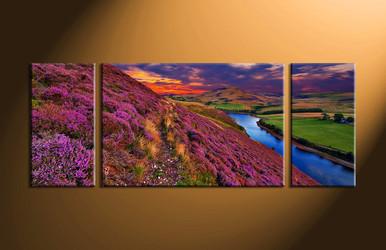 home decor,3 piece group canvas, landscape canvas print, mountain canvas print,  nature artwork