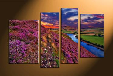 home decor,4 piece group canvas, landscape canvas print, mountain canvas print,  nature canvas wall art