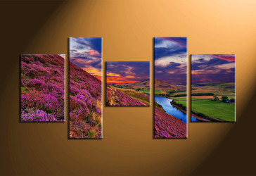 home decor,5 piece group canvas, landscape canvas print, mountain canvas print,  nature large pictures