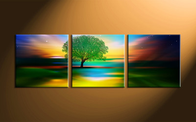 home decor,3 piece wall art, landscape canvas print, tree canvas print,  nature artwork