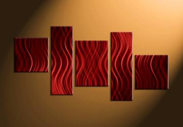 Home Décor, 5 piece canvas art prints, abstract canvas print, abstract artwork, abstract multi panel canvas
