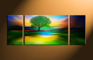 nature photo canvas, home décor,3 piece artwork, landscape canvas print, tree canvas print,