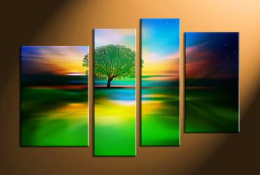 nature photo canvas, home décor,4 piece artwork, landscape canvas print, tree canvas print,