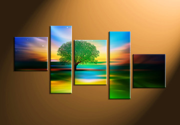 nature photo canvas, home décor,5 piece artwork, landscape canvas print, tree canvas print,