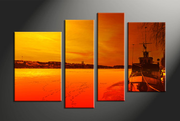 home decor,4 piece canvas wall art, ocean wall art, wll decor, canvas photography, large pictures