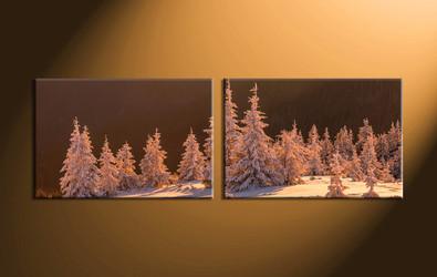 home decor,2 piece canvas art prints, landscape pictures, nature multi panel art,  fig tree pictures