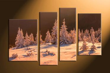home decor,4 piece canvas art prints, landscape pictures, nature multi panel art,  fig tree pictures