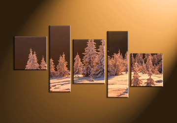 home decor,5 piece canvas art prints, landscape pictures, nature multi panel art,  fig tree pictures