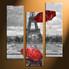 home decor, 3 Piece Wall Art, umbrella panel art, eiffel tower art, black and white raining art