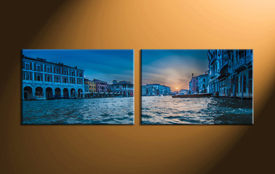 Home Décor, 2 piece canvas art prints, city canvas print, scenery artwork, city canvas art prints