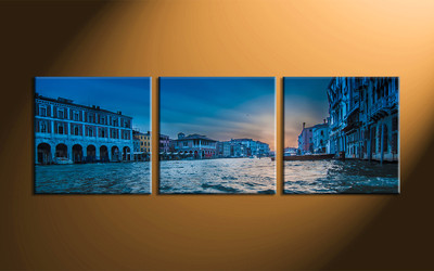 Home Décor, 3 piece canvas art prints, city canvas print, city artwork, city canvas wall art