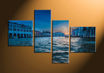 Home Décor, 4 piece canvas art prints, city canvas print, scenery multi panel canvas, city huge canvas art