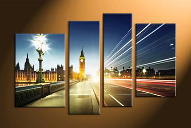 Home Décor, 4 piece canvas art prints, city canvas print, city wall art, city art