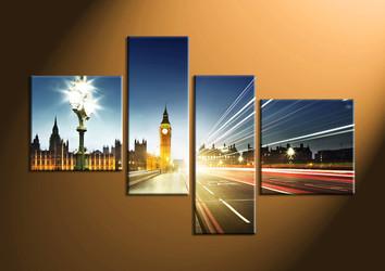 Home Décor, 4 piece canvas art prints, city huge pictures, city canvas wall art, city art
