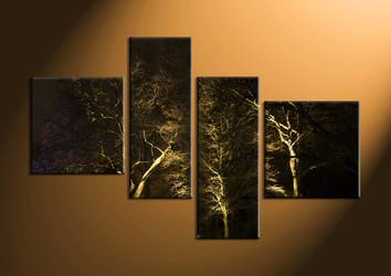 home decor,4 piece huge pictures, forest canvas print, dark forest canvas print,  scenery photo canvas