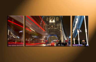 Home Décor, 3 piece canvas art prints, city canvas print, city artwork, night wall art
