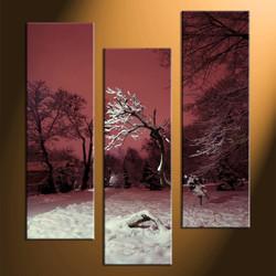 home decor,3 piece canvas art prints, landscape canvas print,  dead trees canvas print, forest photo canvas