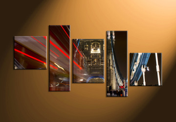 Home Décor, 5 piece canvas art prints, city canvas print, city artwork, city photo canvas
