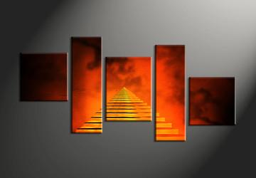 Home Wall Decor, 5 piece canvas art prints, abstract multi panel canvas, abstract wall art, modern photo canvas