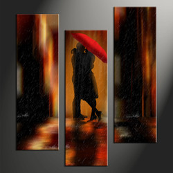 Home Wall Decor, 3 piece canvas art prints, abstract wall decor, abstract wall art, umbrella canvas photography