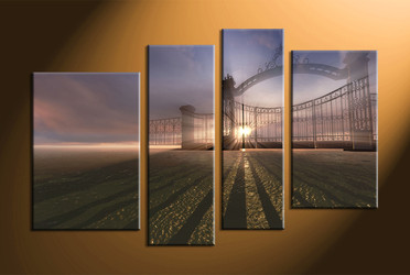 home decor, 4 Piece canvas wall decor, scenery huge canvas art, scenery group canvas, modern large pictures