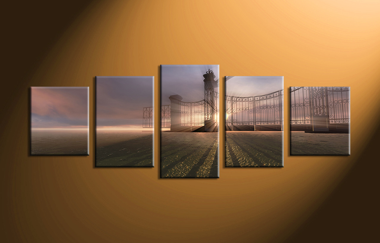 Home Decor 5 Piece Canvas Wall Scenery Huge Art Artwork