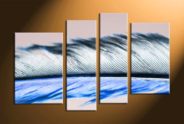home decor, 4 piece canvas wall art, feather photo canvas, modern canvas art, abstract group canvas