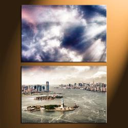 Home Decor, 2 piece canvas art prints, city huge pictures, city decor, city canvas photography