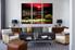 Living Room Artwork, 3 piece canvas wall art, city canvas wall art, nature decor, city landscape group canvas