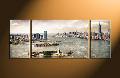 Home Decor, 3 piece canvas art prints, city huge pictures, city decor, city canvas wall art