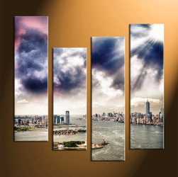 Home Decor, 4 piece canvas art prints, city canvas photography, city huge canvas art, city canvas art prints