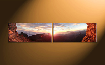 home wall decor, 2 piece canvas art prints, sunrise canvas art prints, landscape huge canvas art, landscape canvas wall art