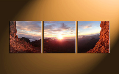 home decor, 3 piece canvas art prints, landscape artwork, landscape large canvas, sunrise wall décor