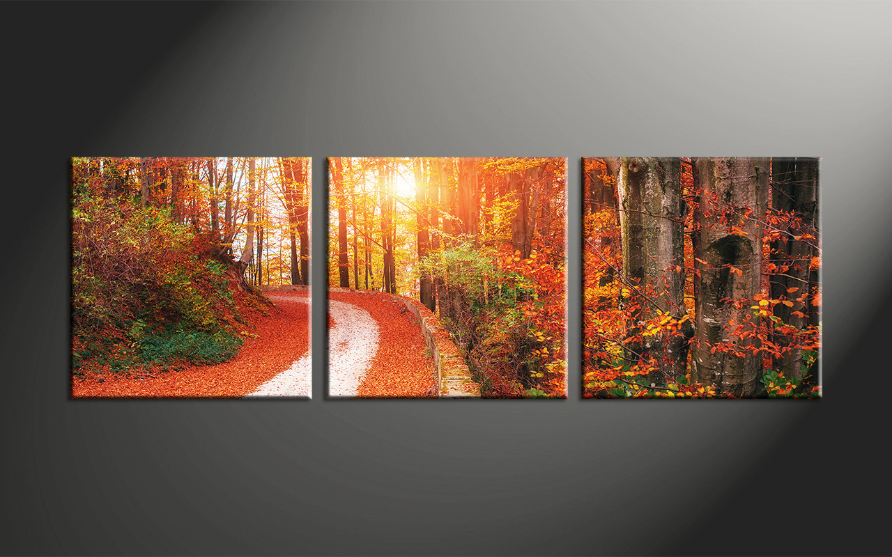 661f616c2a6 3 Piece Colorful Scenery Autumn Canvas Art Prints