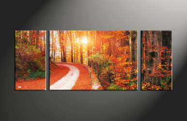 home decor, 3 piece canvas art prints, forest artwork, forest large canvas, scenery pictures
