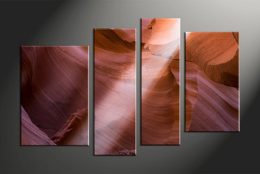 Home Decor, 4 piece canvas art prints, landscape multi panel art, rock large canvas, landscape art