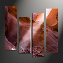 Home Decor, 4 piece canvas art prints, landscape multi panel art, rock large canvas, landscape wall art