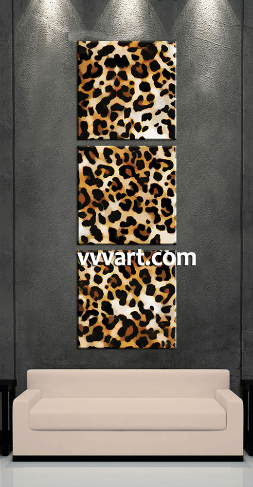 living room wall art, 3 Piece huge canvas art, leopard print wall decor, animal canvas art prints, wild canvas print