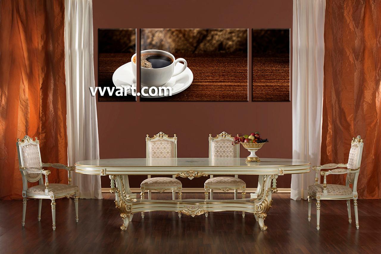 Dining Room Wall Decor 3 Piece Saucer Multi Panel Art Tea