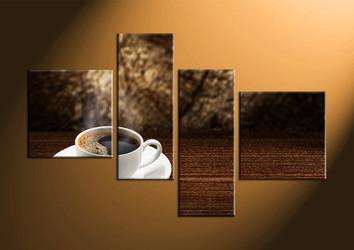 home decor, 4 Piece Wall Art, home decor multi panel art, saucer canvas photography, tea cup large canvas
