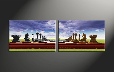 home decor, 2 piece canvas art prints, abstract canvas art prints, modern huge canvas art, pawns large pictures