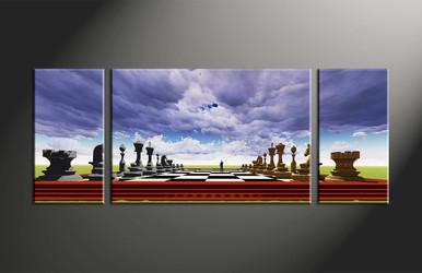 home decor, 3 piece canvas art prints, abstract canvas art prints, modern huge canvas art, pawns canvas wall art