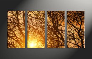 forest large pictures,home decor, 4 piece canvas art prints, scenery canvas art prints, sunrise artwork